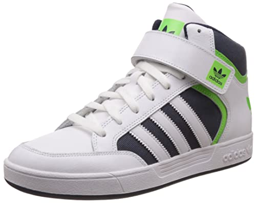 Adidas Originals Men S Varial Mid Ftwwht Sgreen And Conavy Leather