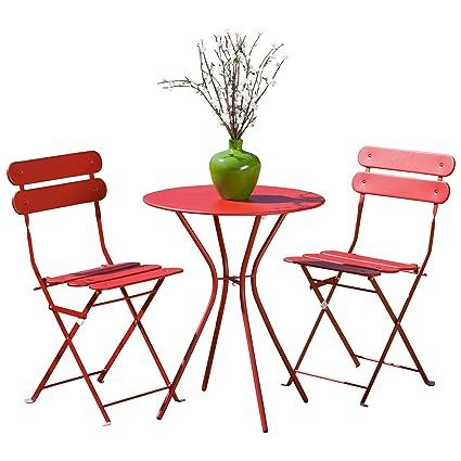 Charmant RST Brands Sol 3 Piece Bistro Set, Red