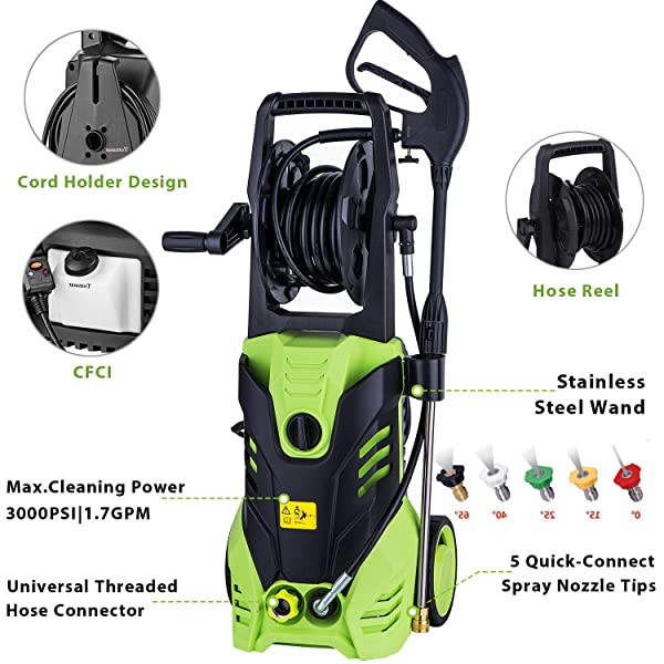 MEDITOOL is one of the best electric pressure cleaner to get rid of tough dirt, grease, oil stains, rust, mildew, gunk, and grime from almost any surface.