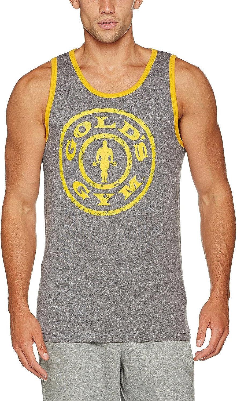 Golds Gym Muscle Joe Contrast Athlete D/ébardeur 100/% Coton