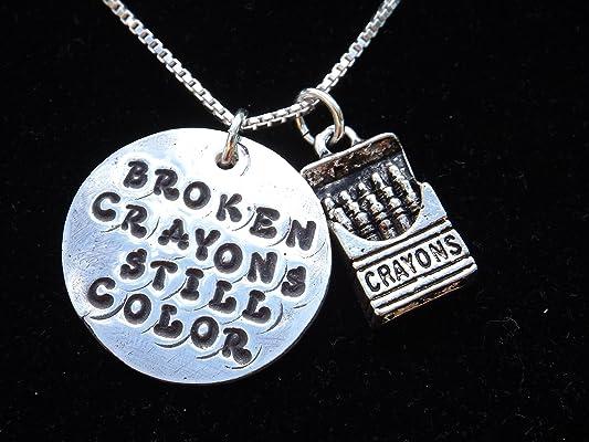 Broken Crayons Still Color Necklace