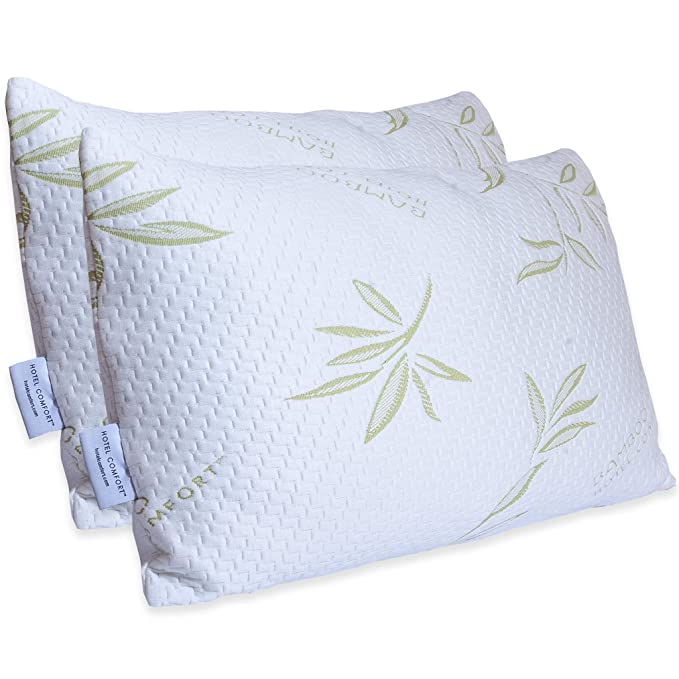Hotel Comfort Premium Bamboo Memory Foam Pillow - The Luxurious and Premium Try