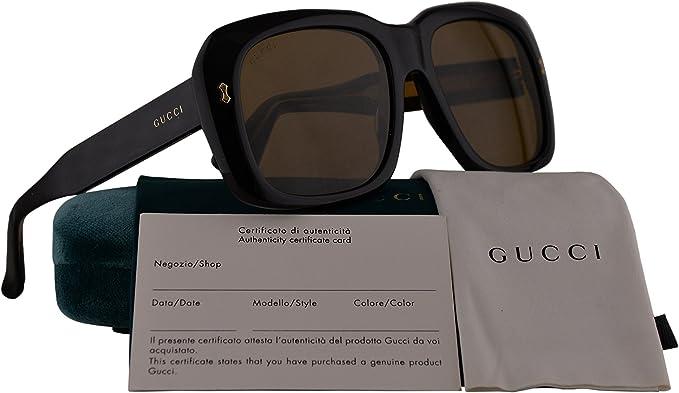 Gucci GG0049S gafas de sol w/Lente de Brown 001 GG 0049S mujer Negro Grande: Amazon.es: Ropa y accesorios