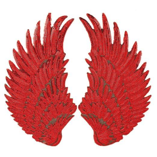 Parches de lentejuelas de alas de ángel grandes, para planchar o coser, adorno para bordar en la ropa o para manualidades: Amazon.es: Juguetes y juegos