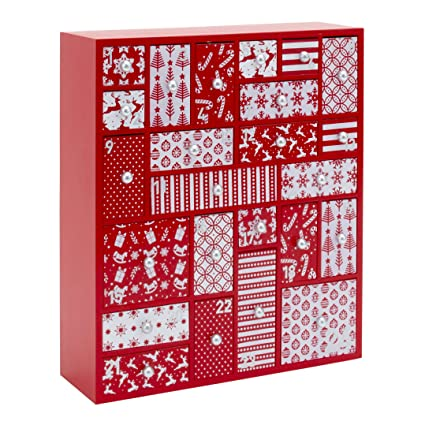 Wooden Advent Calendar With Drawers Large Christmas Countdown Calendar 2019 For Kids Or Adults Nordic Theme Christmas Decoration Family Keepsake