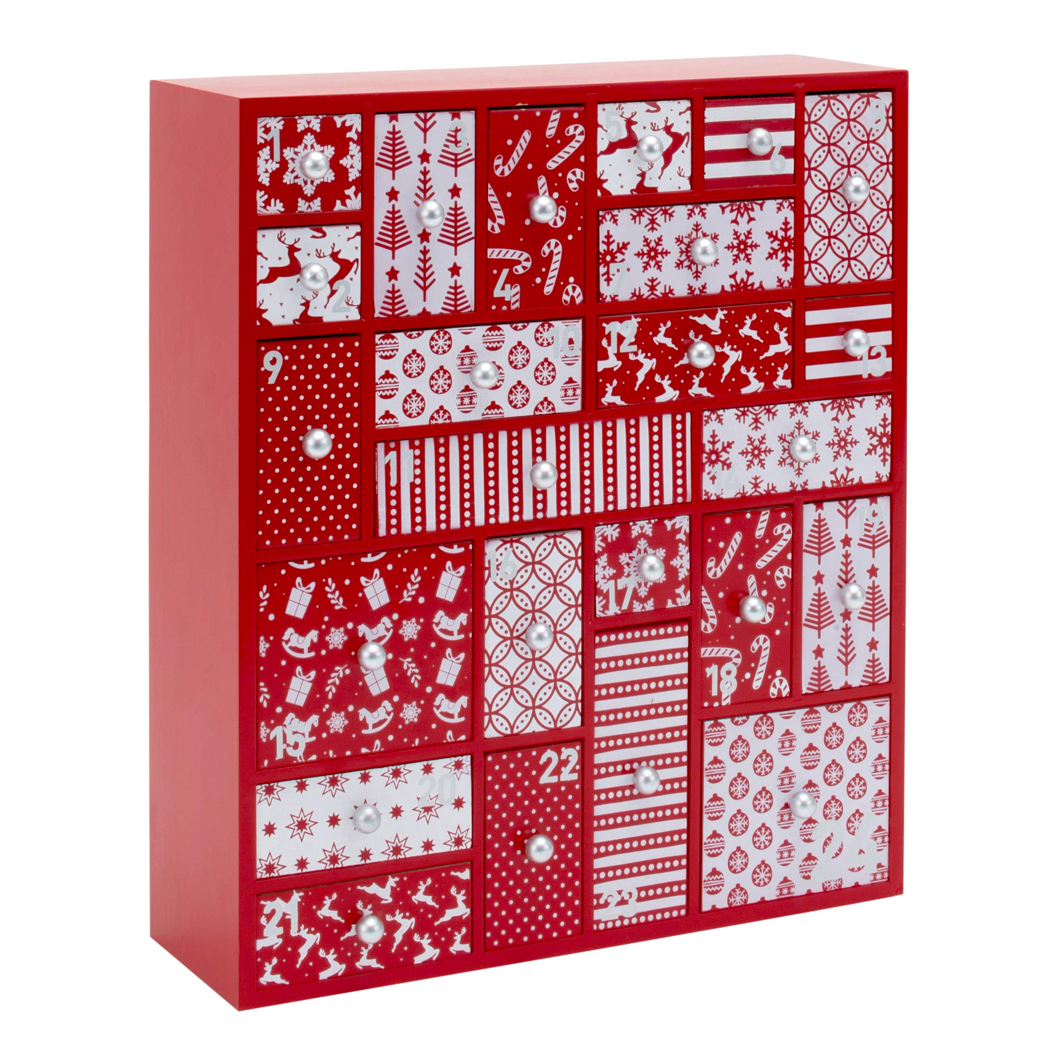 Christmas Countdown 2019.Hyggehaus Wooden Advent Calendar With Drawers Large