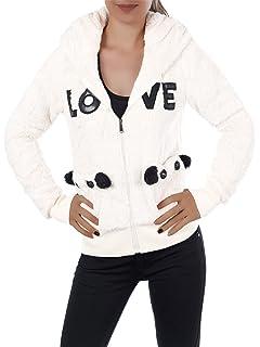 Damen Hoodie Pullover Jacke Kapuzenpullover Sweatshirt Sweatjacke Teddy L690