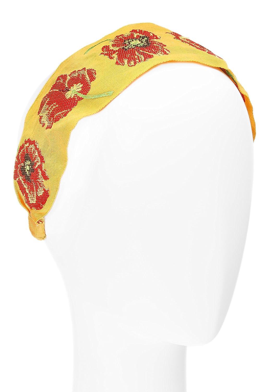 California Poppy Magenta//Turquoise L Erickson USA Ribbon Headband