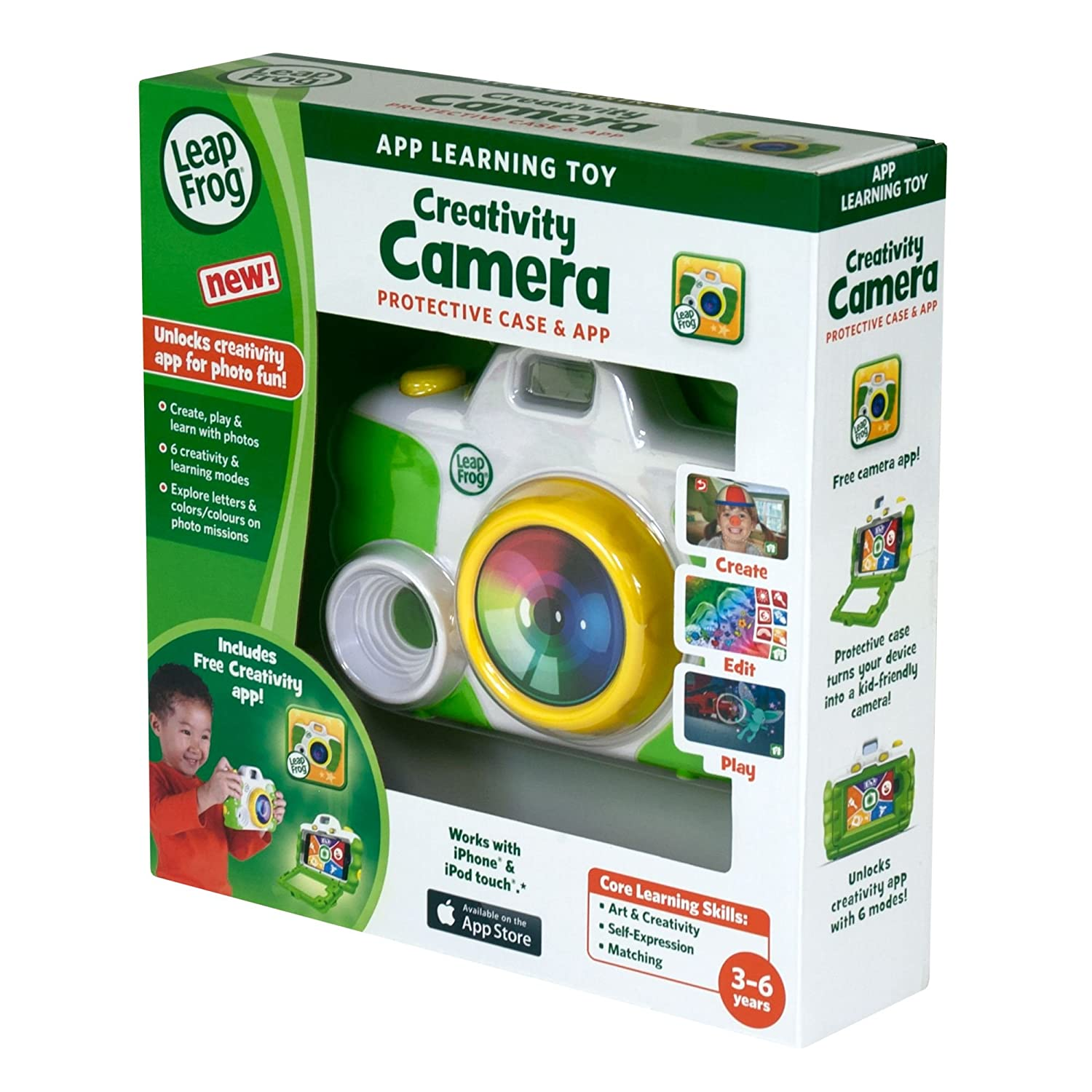 LeapFrog Creativity Camera App with Protective Case (Green) ToyCenter 80-19234E