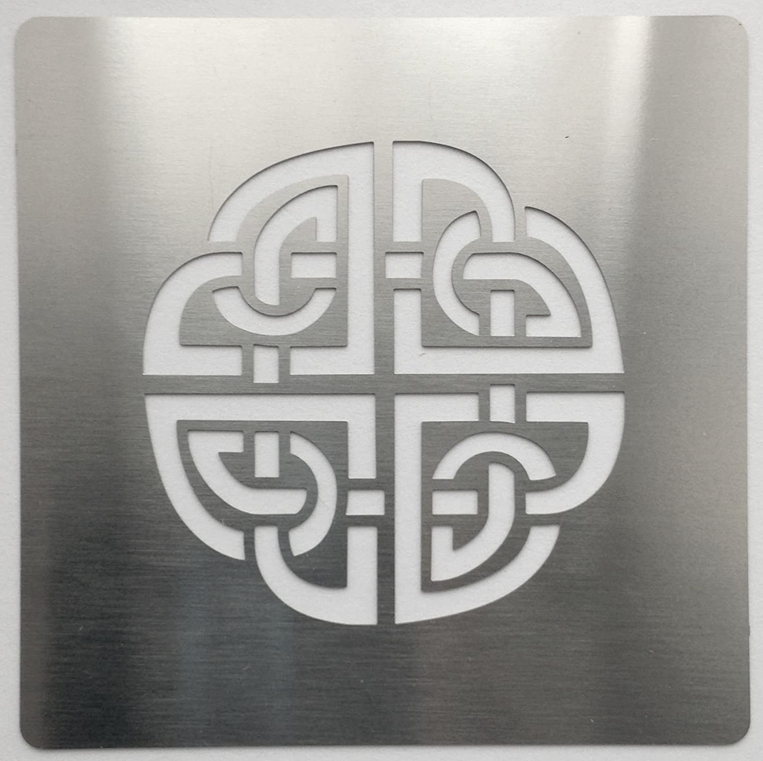 Metal Monkey Celtic Knot Stainless Steel Stencil 4cm SET of 4 (A,B,C,D)