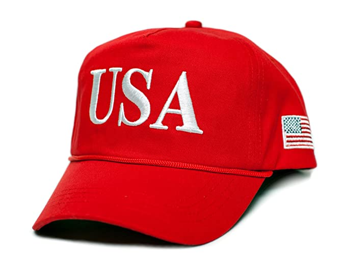 8411f41a66c Amazon.com  USA 45 Trump Make America Great Again Embroidered hat One Size  Adult Red