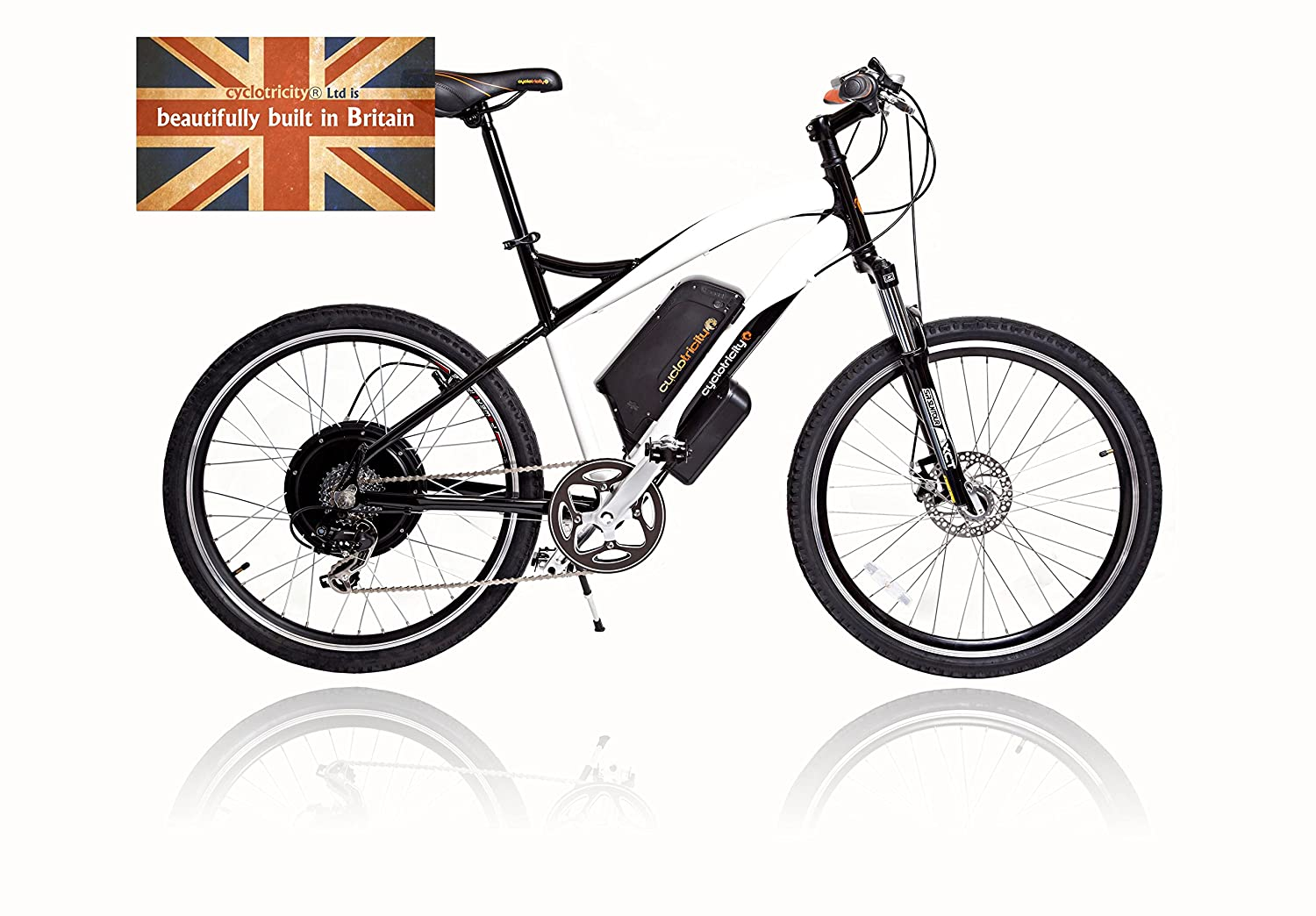 cyclotricity E-Bike, Stealth 500 W 15 Ah 50,8 cm Lithium-Ionen Elektromotor Fahrrad, E-Bike, Power eBike Stealth 500w 15Ah 20
