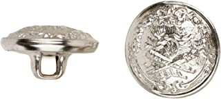 product image for C&C Metal Products 5026 Dueling Knights Metal Button, Size 45 Ligne, Nickel, 36-Pack
