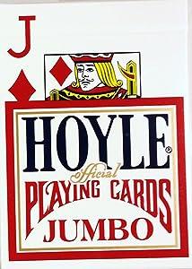 Hoyle Jumbo Index Playing Cards 1202, Red Back