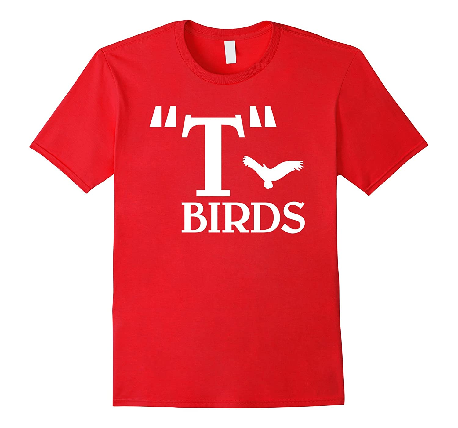 T-Birds Grease Movie Themed T-shirt Design blue, red colour-FL