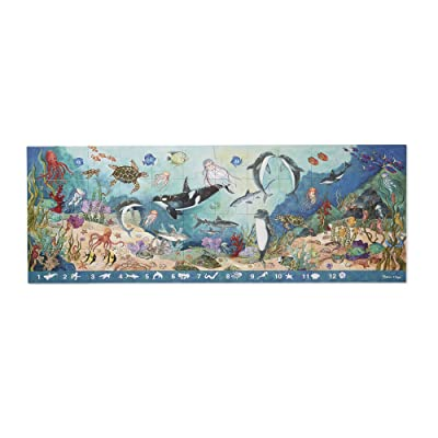 Melissa & Doug 48pc Under the Sea Search & Find Floor Puzzle: Melissa & Doug: Toys & Games