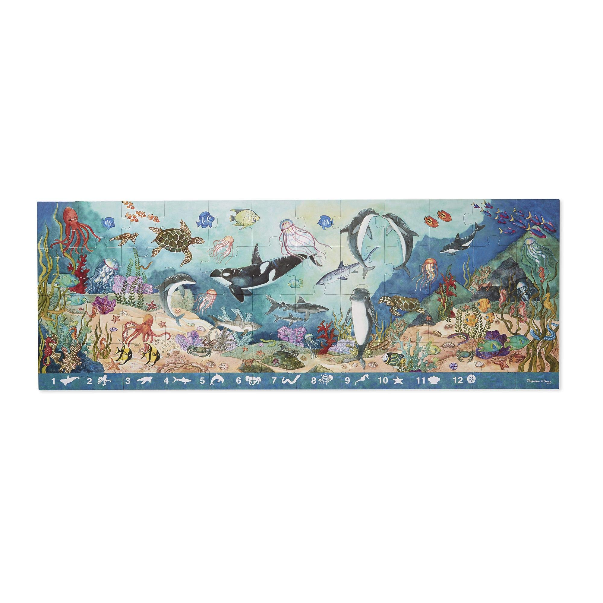 Melissa & Doug 48pc Under the Sea Search & Find Floor Puzzle