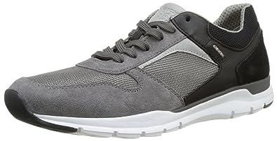 Geox U Snapish B, Sneakers Basses Homme, Noir (Anthracite/Blackc9211), 40 EU