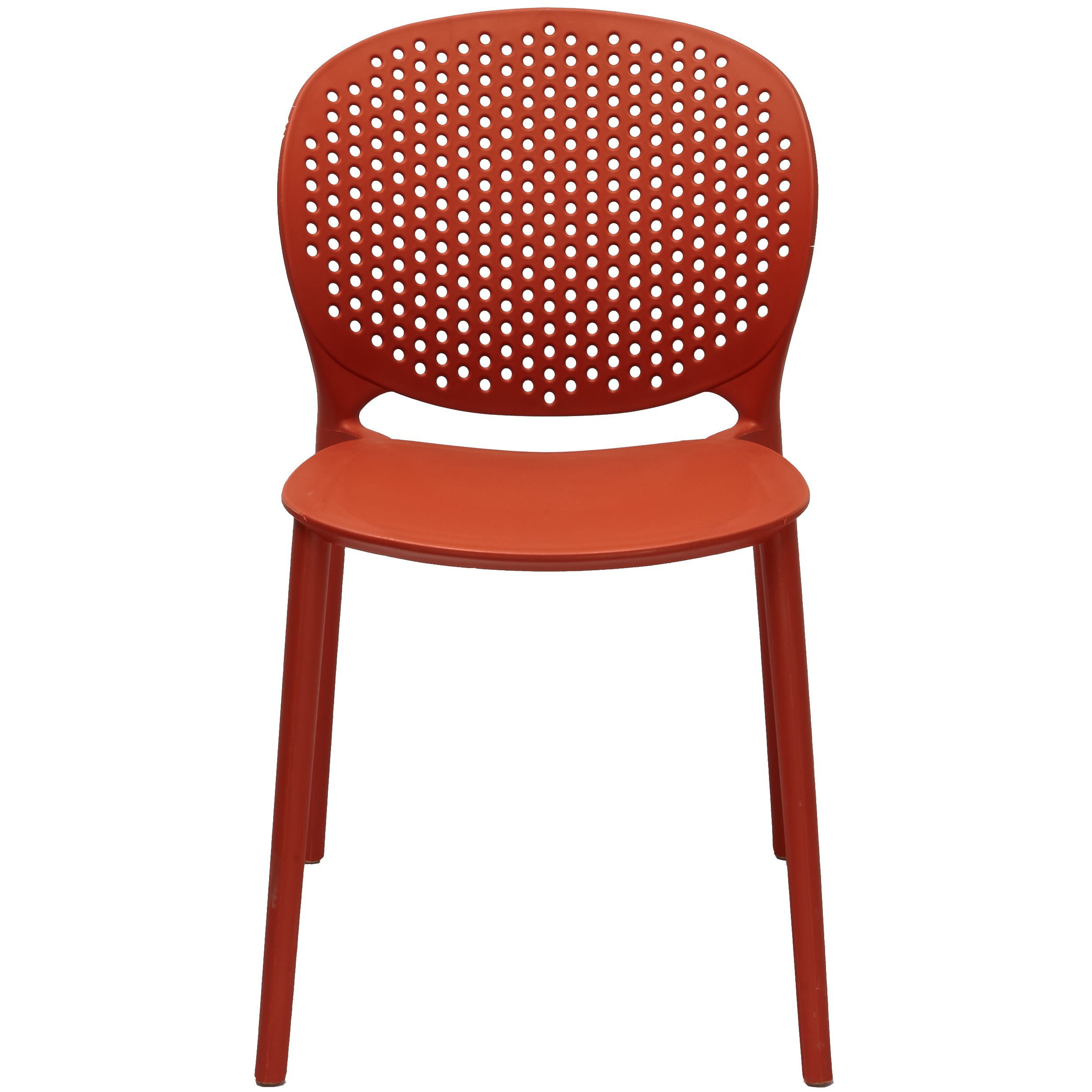 2xhome Orange Contemporary Modern Stackable Assembled Plastic Chair Molded with Back Armless Side Matte for Dining Room Living Designer Outdoor Light Weight Garden Patio Balcony Work Office