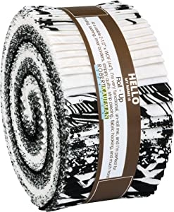 Pen and Ink New Colors 2019 Roll Up 40 2.5-inch Strips Jelly Roll Robert Kaufman Fabrics RU-880-40
