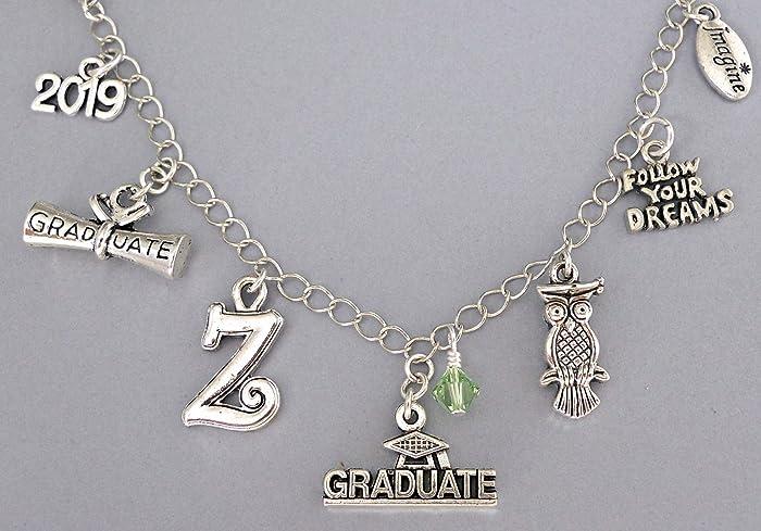 aa3dfd756d0 Amazon.com: Personalized 2019 graduation charm bracelet or necklace ...