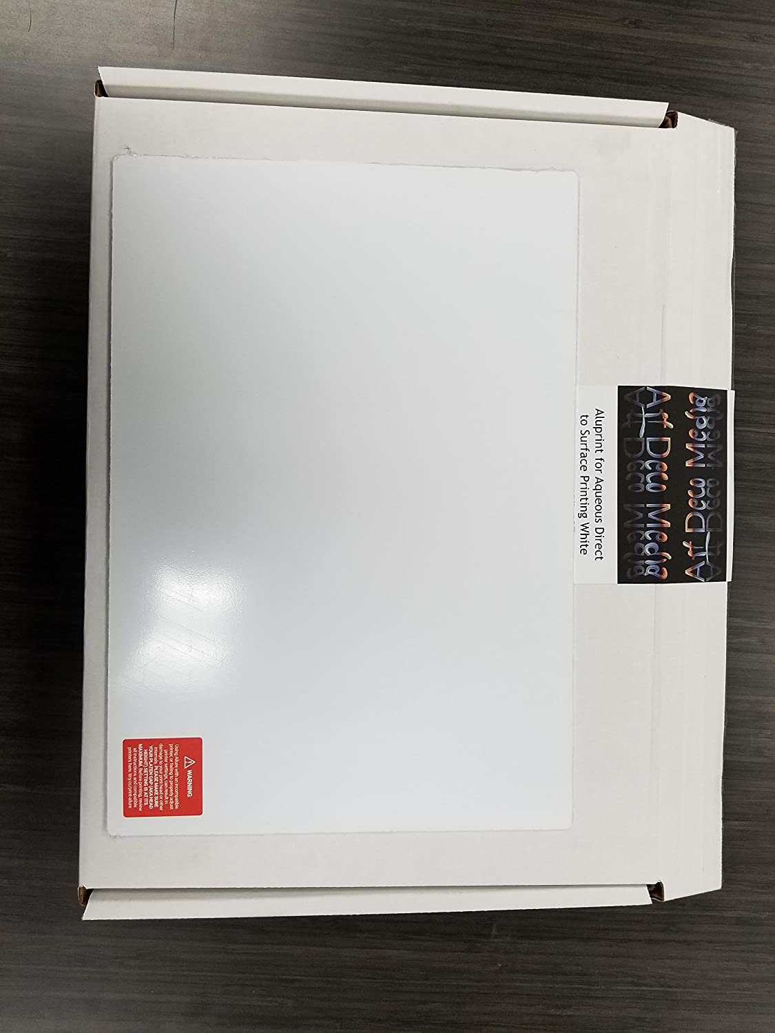20x30 Trim size Pack of 5 ArtDeco Aluminum Plate for Aqueous Direct to Surface Printing White Matte in 21x31