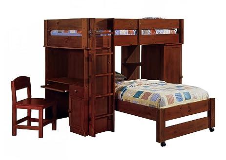 Amazon.com: Colonial Vintage Dark Walnut Wooden Youth Twin Size ...