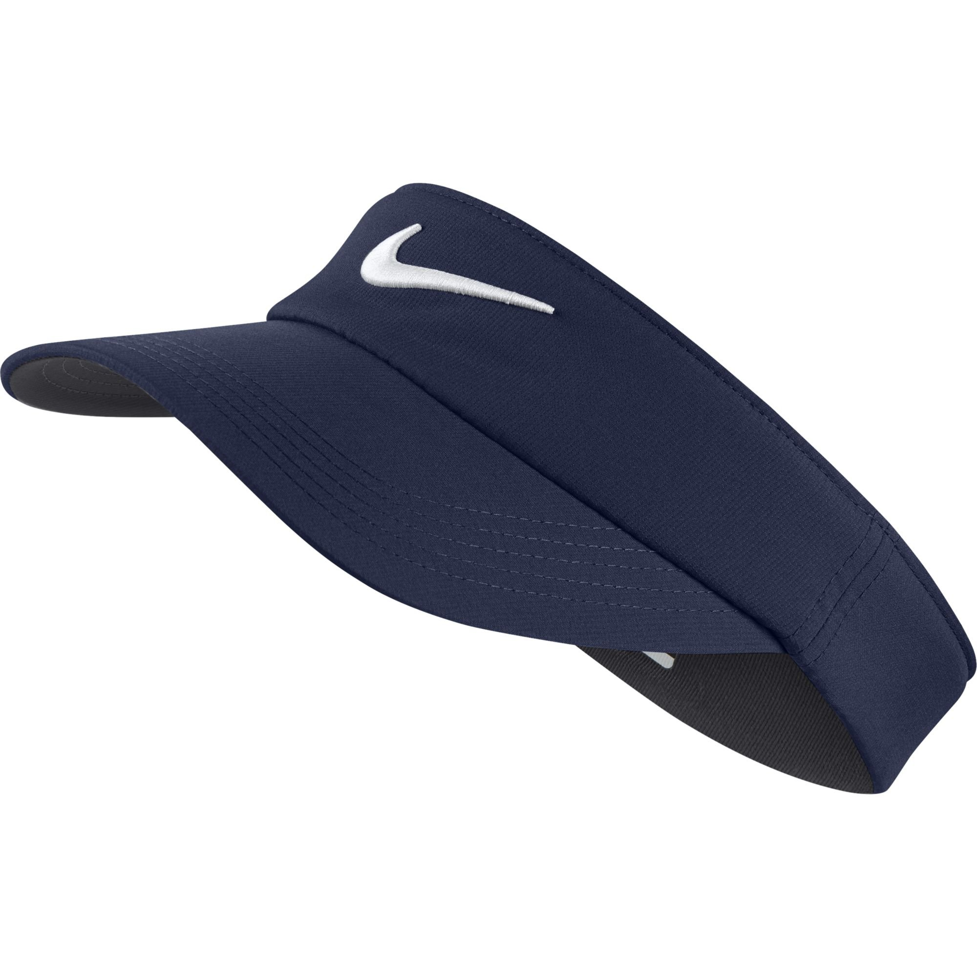 NIKE Unisex Core Golf Visor, Midnight Navy/Anthracite/White, One Size