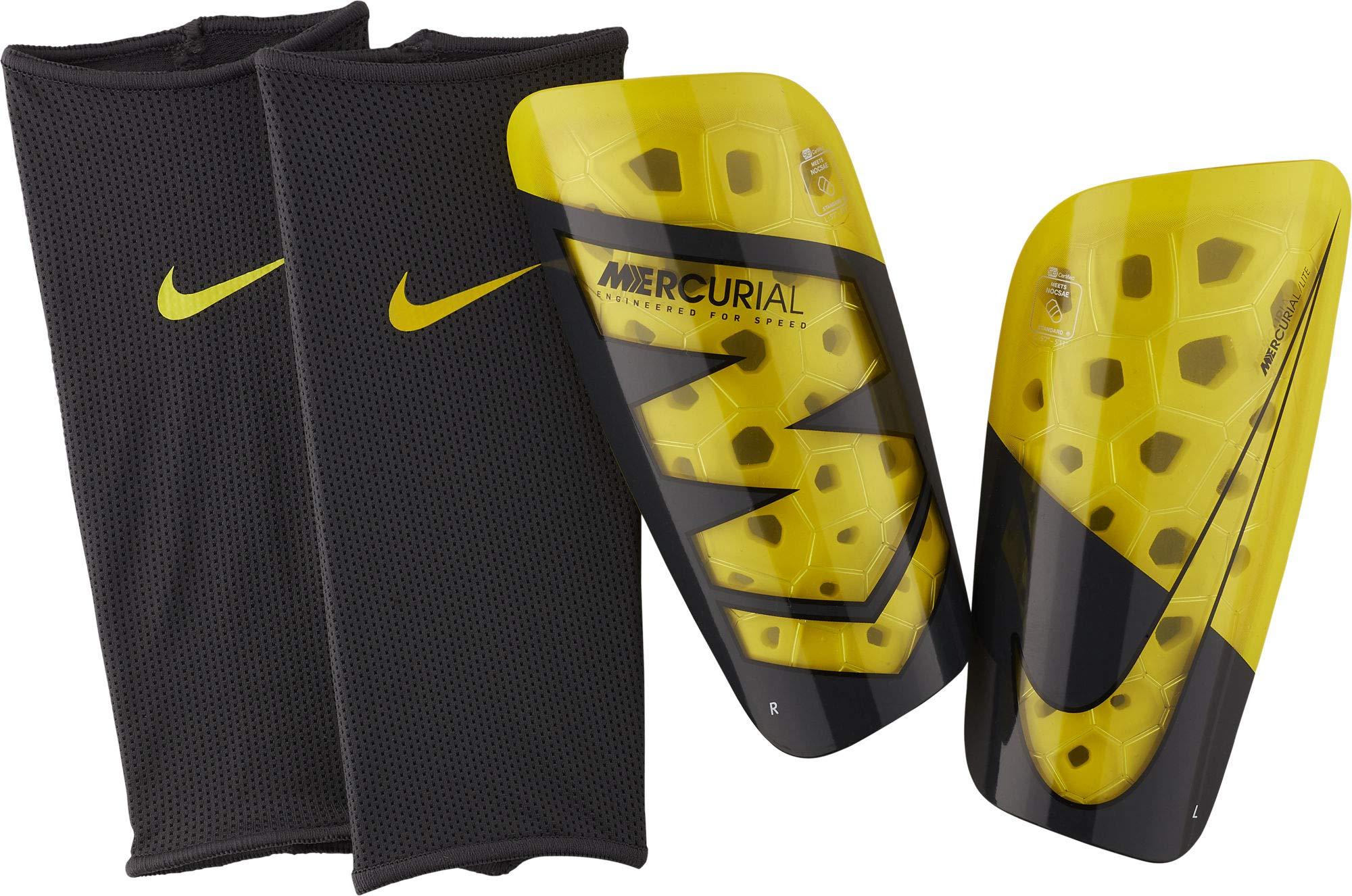 Nike Mercurial Lite Soccer Shin Guards Volt/Black by Nike