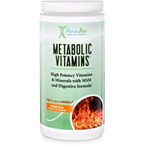 RelaxSlim Metabolic Vitamins, Formulated by Award Winning Metabolism and Weight Loss Specialist- High Potency