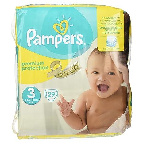 Pampers Premium pañales 5 – 9 kg tamaño 3 29 piezas