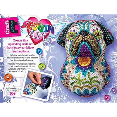 Sequin Art 3D SUGAR PUG Sparkling Arts and Crafts Kit: Toys & Games