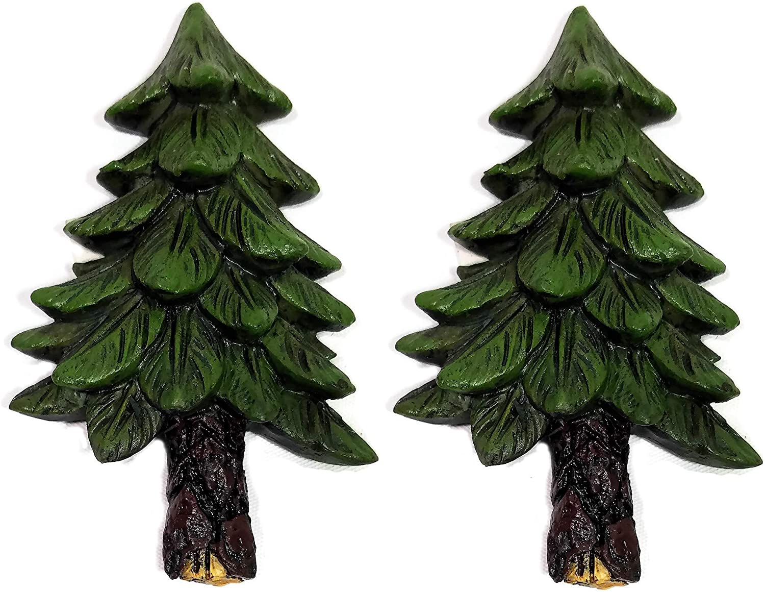 Cabin Kitchen Decor Pine Tree Refrigerator Magnets, Set of 2