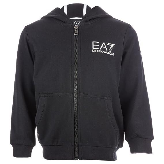 0b0df99d09dc Emporio Armani Boys EA7 Junior Boys Training Core ID Zip Hoody in Black -  7-8  Emporio Armani EA7  Amazon.co.uk  Clothing