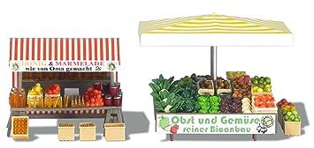 Busch 1071 - Puesto de mercadillo de frutas y verduras [Importado de Alemania]