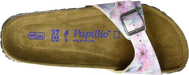 Mules Femme Papillio Madrid Birko-Flor Softfootbed Pixel Rose /étroit