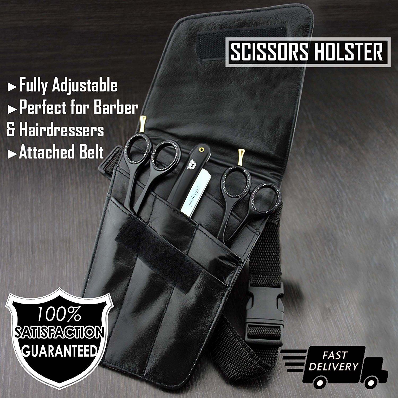 Tijeras de peluquería Tool cinta Scissor soporte Holster/Cinturón Tijeras Bolsa. JAG SHAVING GERMANY