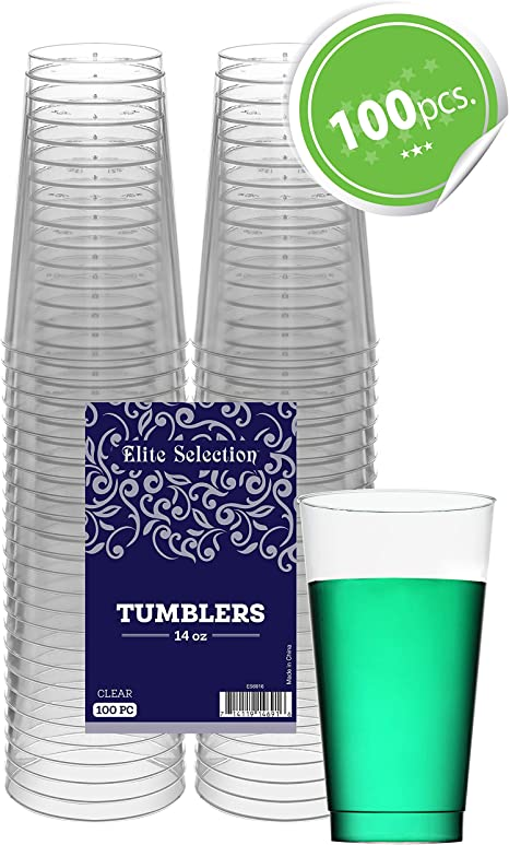 - - Lot de 100 gobelets en plastique - clair Parti jus jetables potable cups
