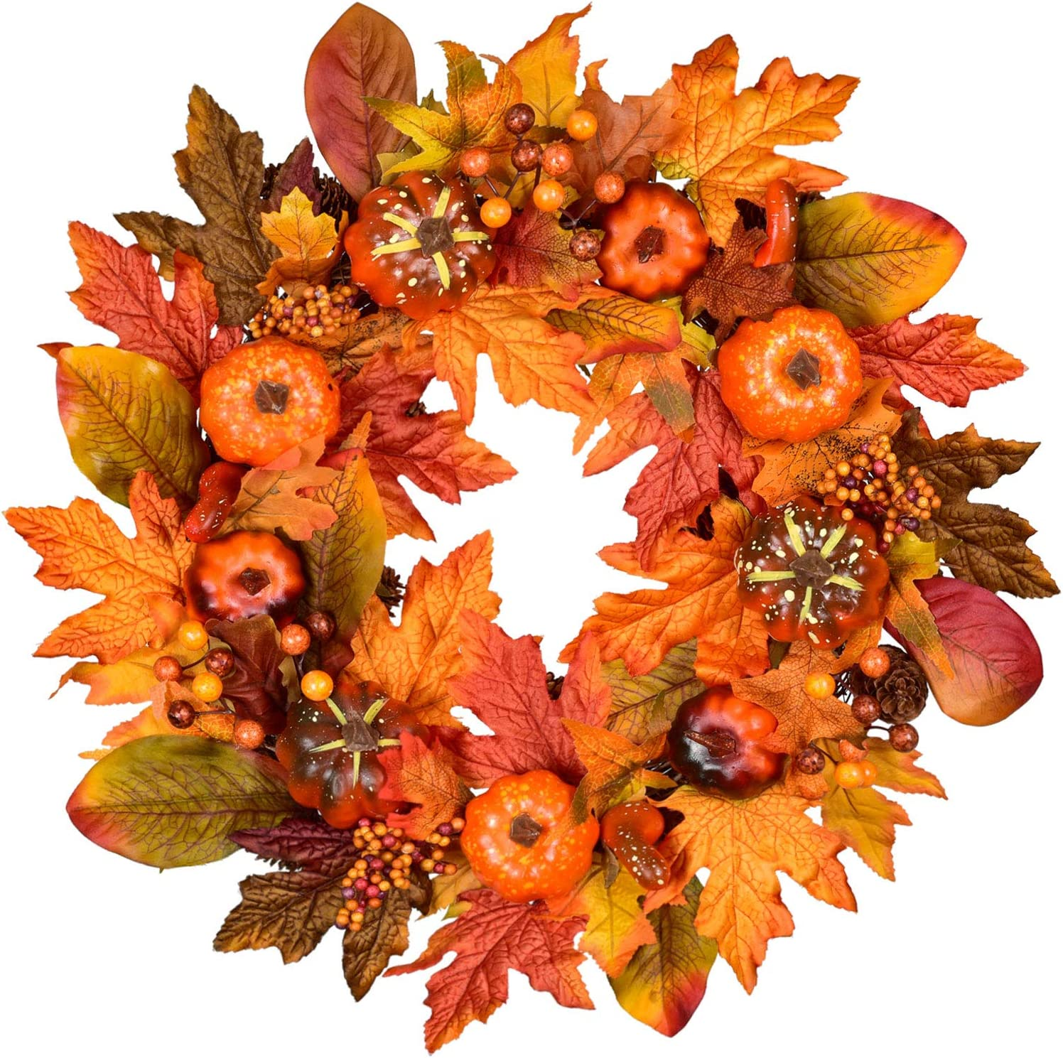 Autumn Orange Artificial Maple Vine 1.8m//6ft x 56 Leaves