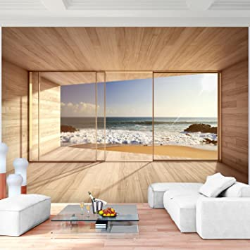 Fototapete Fenster fototapete fenster zum meer 352 x 250 cm vlies wand tapete