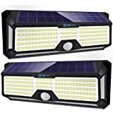 Solar Lights Outdoor Super-Bright 298 LEDs 2500lm - LED Solar Motion Sensor Lights Outdoor - for Wall, Post, Pathway…