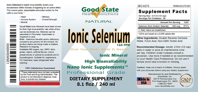Amazon Good State Liquid Ionic Selenium 96 Servings At 400 Mcg