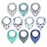 Amazon Price History for:10-Pack Baby Bandana Drool Bibs for Drooling and Teething Boys Girls by MiiYoung