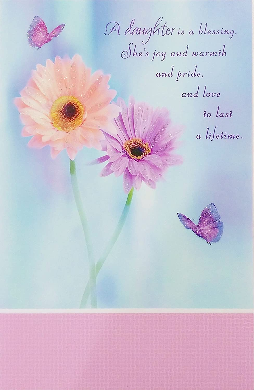 A Daughter is A Blessing - Religious Happy Birthday Greeting Card -