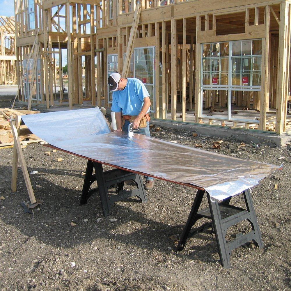 Radiantguard Ultima Foil Radiant Barrier Foil Insulation 500 Square Feet Roll U 500 B Amazon In Home Kitchen