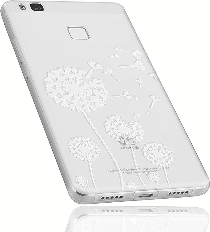 mumbi Funda compatible con Huawei P9 Lite, diente de león, negro: Amazon.es: Electrónica