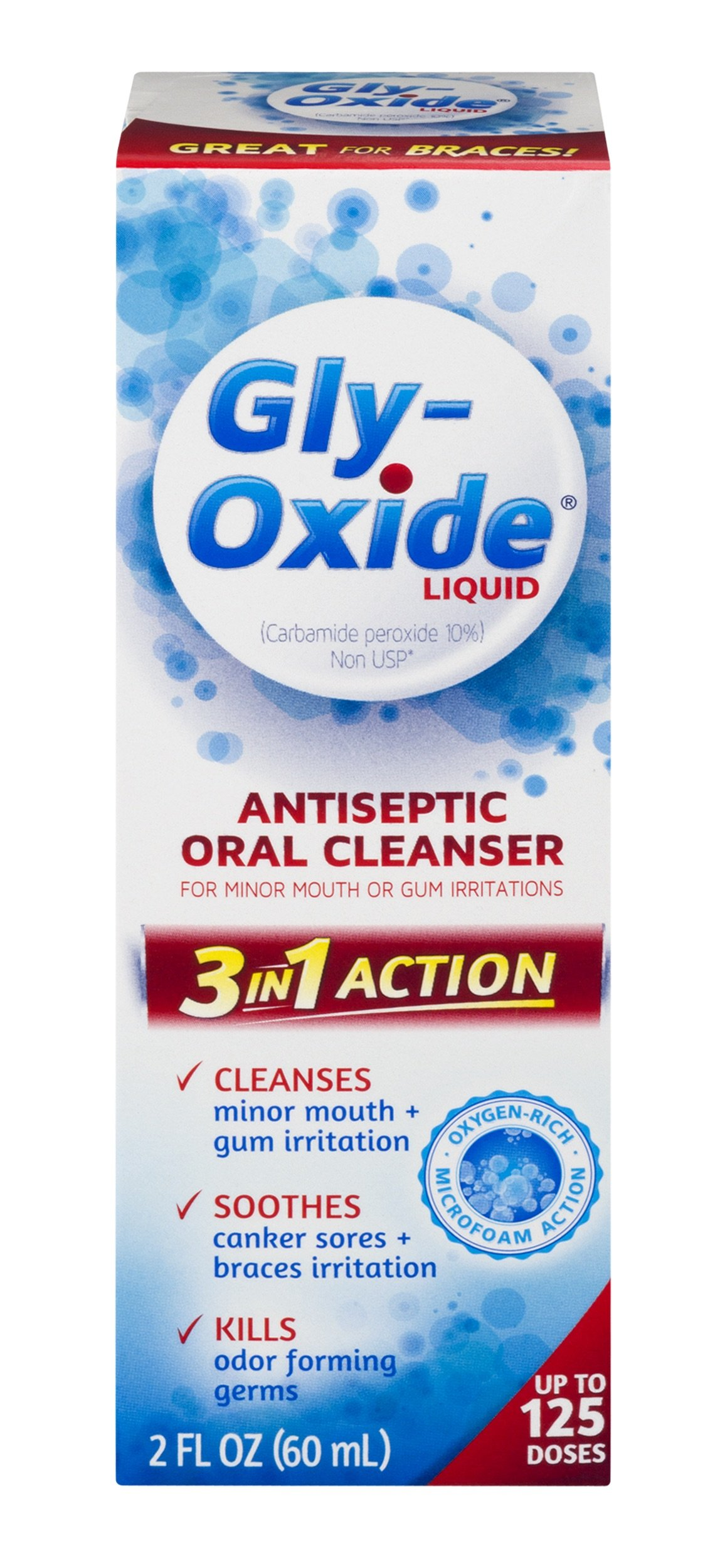 Gly-Oxide Liquid Antiseptic Oral Cleanser-For Minor Mouth or Gum Irritations, 2 Fluid Ounce-Packaging May Vary