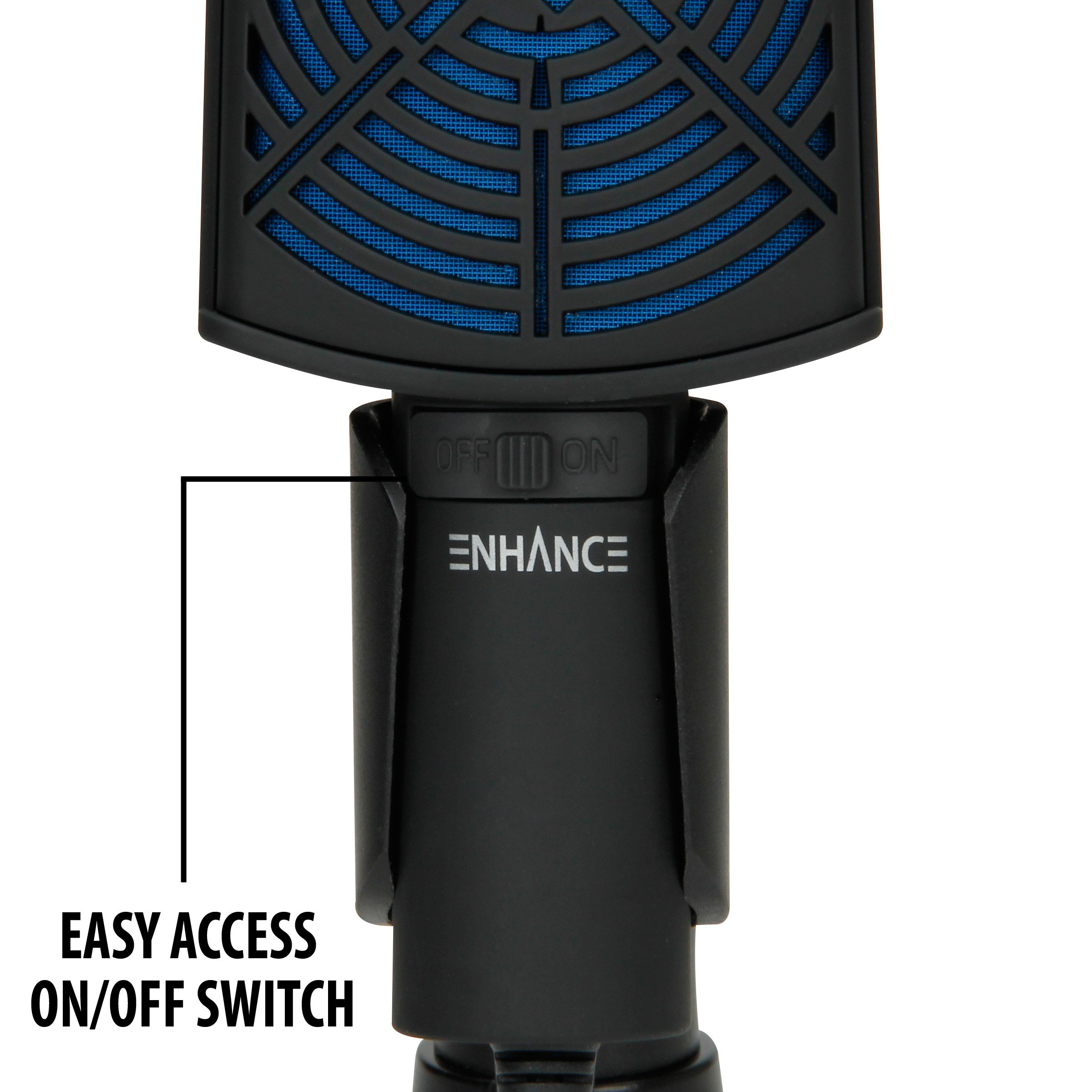 ENHANCE USB Condenser Gaming Microphone - Computer Desktop Mic for Streaming & Recording with Adjustable Stand Design and Mute Switch - For Skype, Conference Calls, Twitch, Youtube, and Discord - Blue by ENHANCE (Image #4)