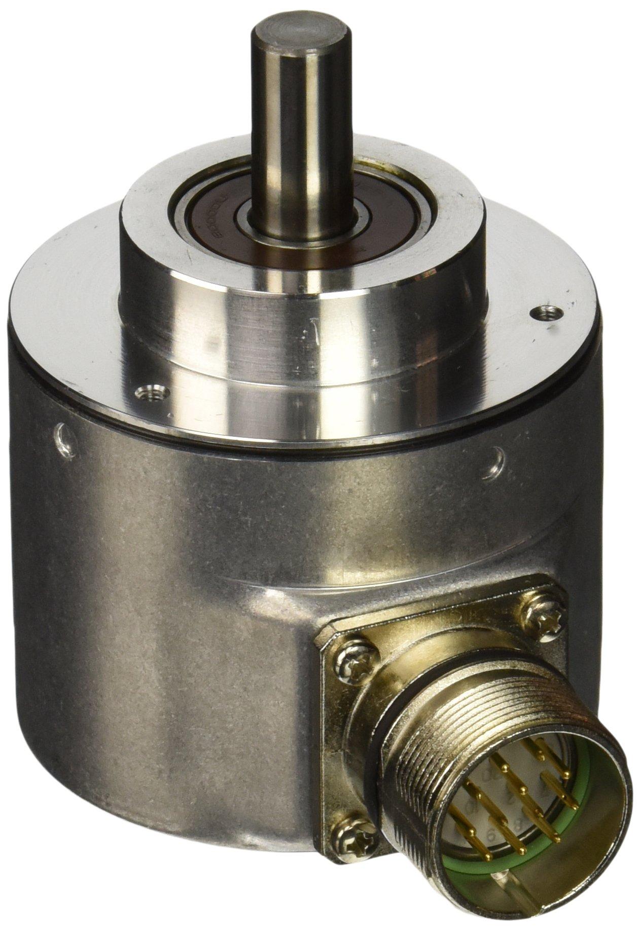 Hengstler 0522084 RI58-O/250EK.42KD Incremental Encoder, 10 mm Solid Shaft, 250 Pulses, Grey