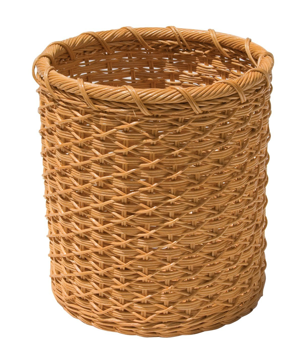 Amazon:anize It All Natural Wicker Wastebasket, Cream: Home &  Kitchen
